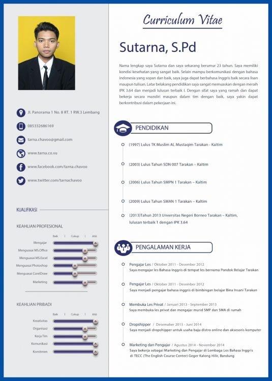 Contoh CV terbaru