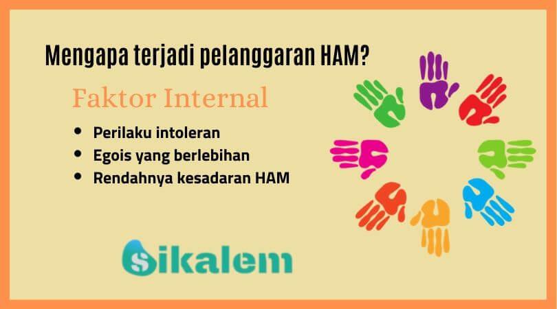 Faktor internal pelanggaran HAM