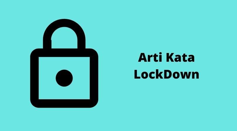 2 Arti lockdown yang terjadi akibat virus corona