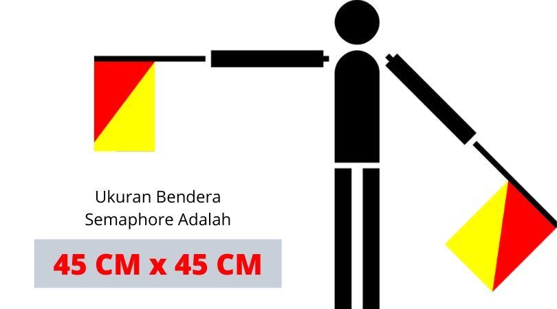 Ukuran Bendera Semaphore