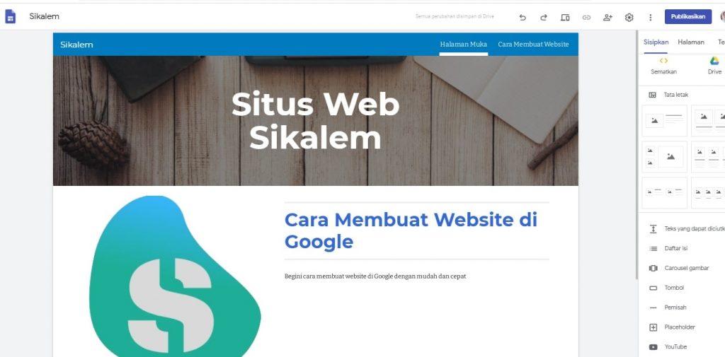 Cara Membuat Website di Google Site